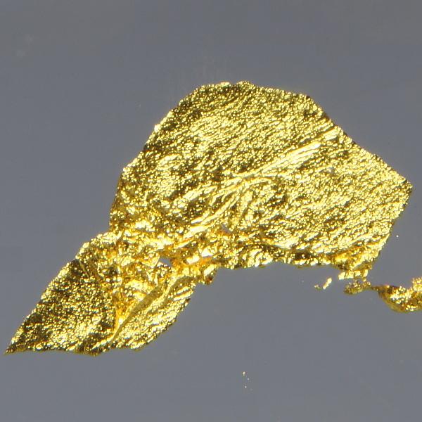 Пластинка из сверхчистого золота. Размеры пластинки около 10 мм.