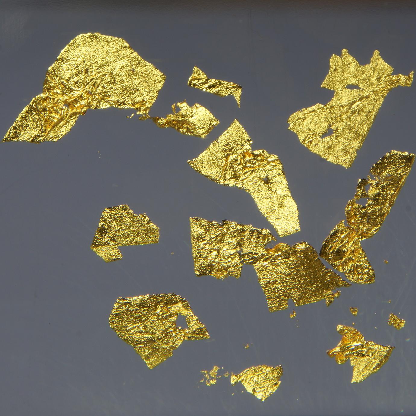 Пластинки из сверхчистого золота. Размеры пластинок - 5..10 мм.