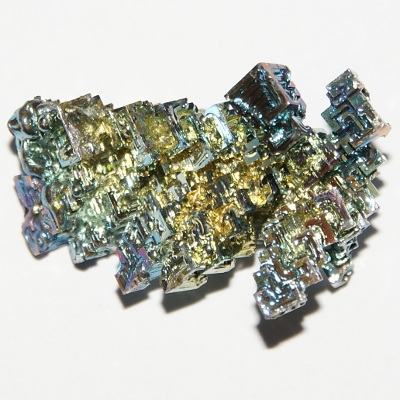 Bismuth crystal with fancy oxide film