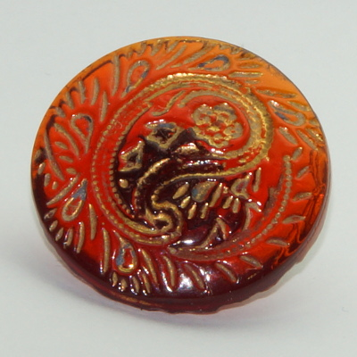Cranberry glass button