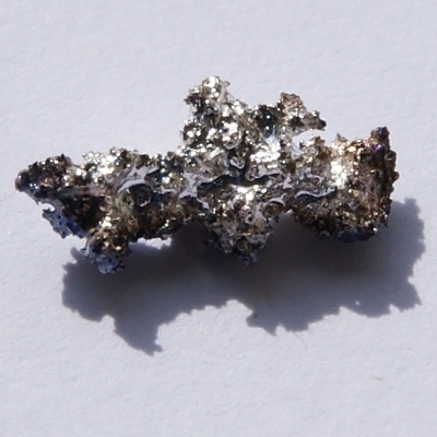 Silver sulfide forms on a silver nugget