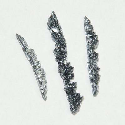 Three vanadium crystals